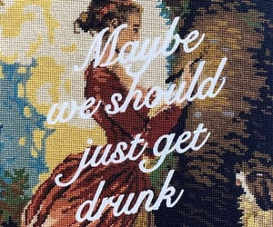 drunk, needlepoint, and typography image