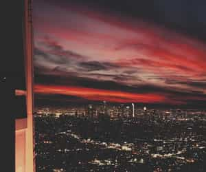 los angeles, sunset, and night city image