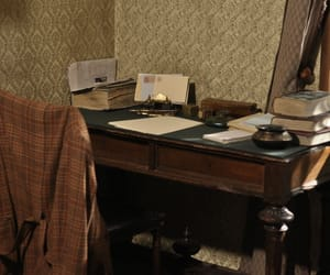 desk, study, and vintage image