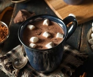 chocolate, hot chocolate, and autumn image