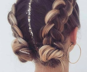 hair, braid, and belleza image