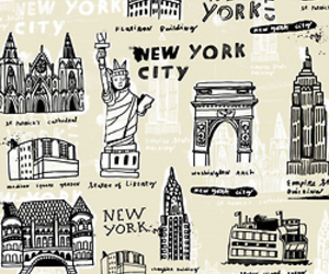 new york, city, and america image