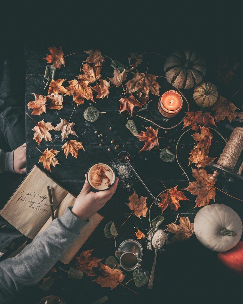 article, autumn, and coffee image