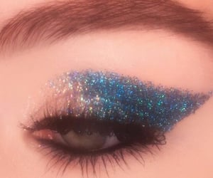 beauty, eyeshadow, and glitter image