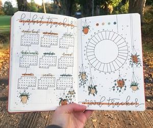 mood tracker, bullet journal, and habit tracker image