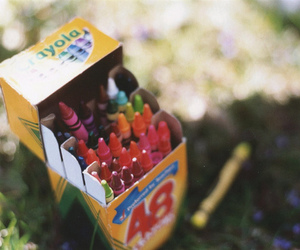 vintage, photography, and crayon image