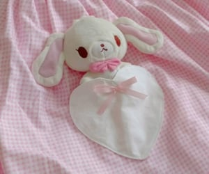 baby pink, bunny, and pastel image