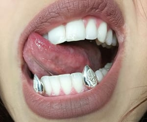 lips, teeth, and makeup image