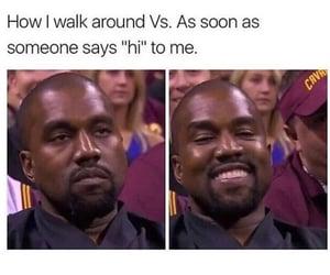 funny, kanye west, and meme image