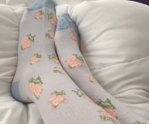 aesthetic, socks, and blue image