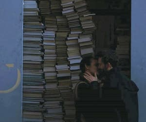 books, love, and couple image