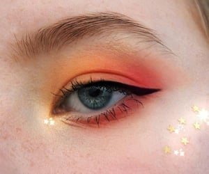 orange, girl, and makeup image