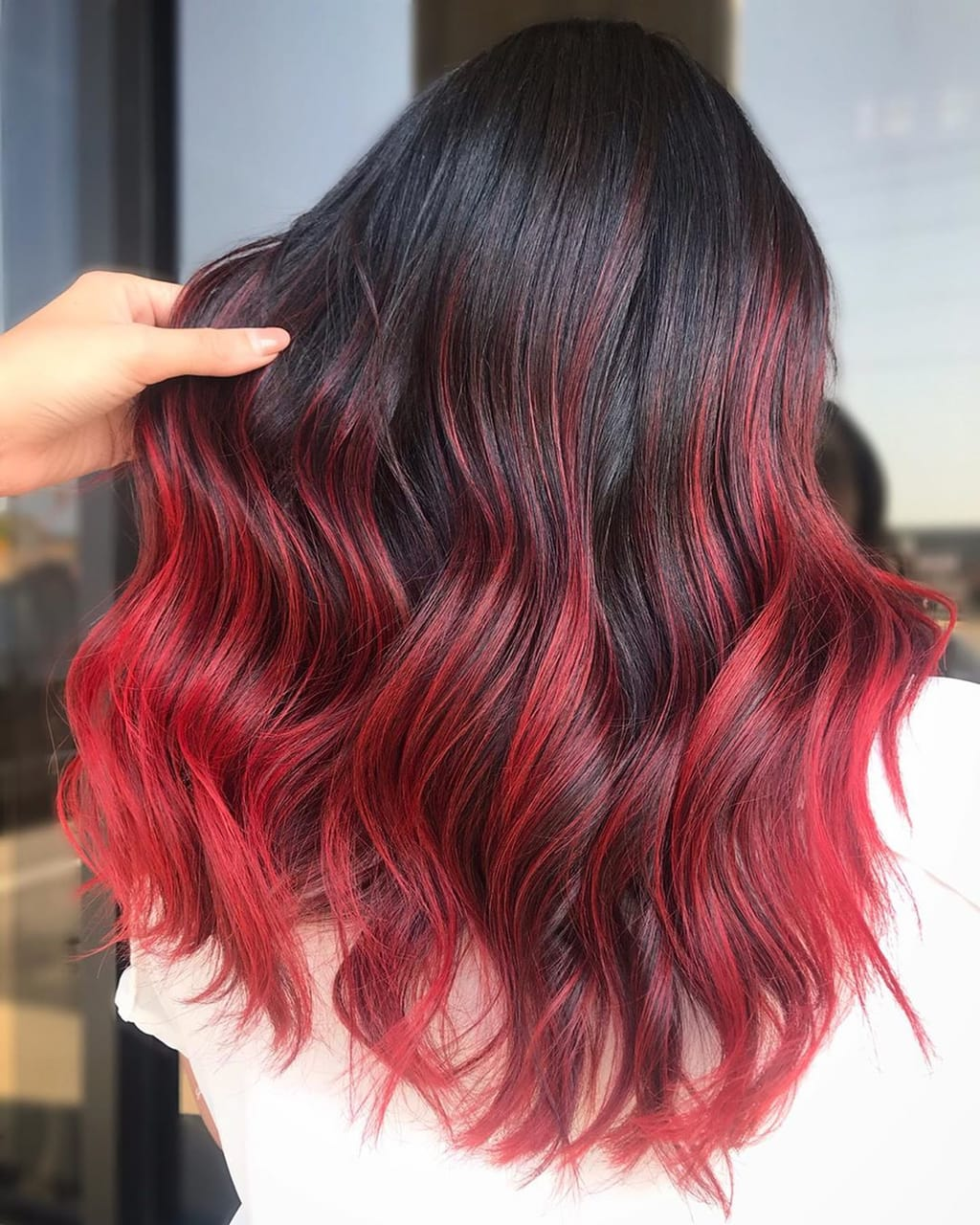 Image About Black Red Hair Color In Hairstyle By Hair Hairstyles