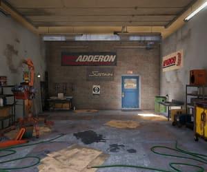 cardboard, garage, and hose image