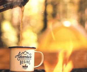 campfire, fire, and coffee image