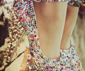 colors, heels, and shoes image