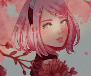 anime, fanart, and flowers image