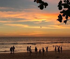 alternative, beach, and sunset image