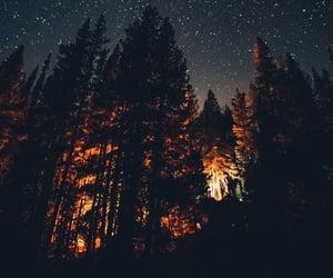 night, sky, and art image