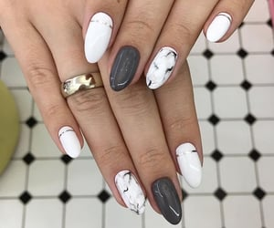 chic, grey, and marble image