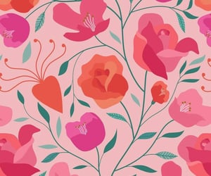 background, drawings, and flower image