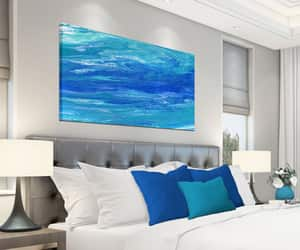 etsy, art above bed decor, and art over couch image