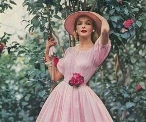 pink, dress, and fashion image