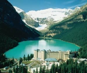 canada, train travel, and mountains image