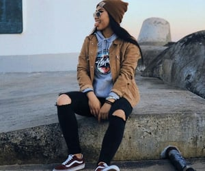 girl, hoodie, and outfit image