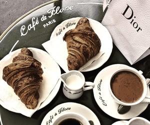cafe de flore, coffee, and croissants image