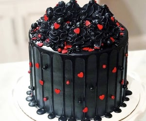 cake, food, and hearts image