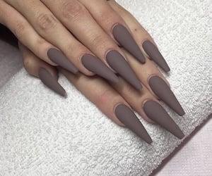 brown and nails image