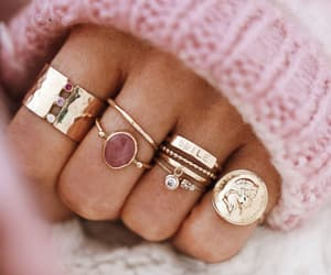 rings, pink, and jewelry image