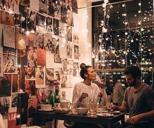 lights, couple, and room image