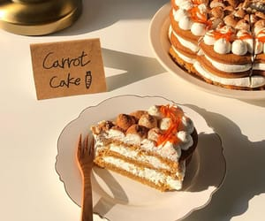 carrot cake, fall, and korean image