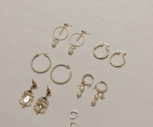 accesories, earrings, and gol image