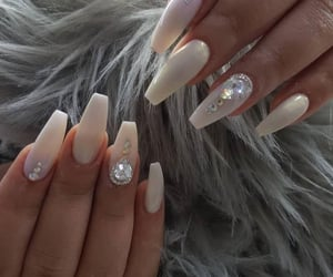 nails, porcelain, and white image