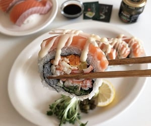 sushi, food, and aesthetic image