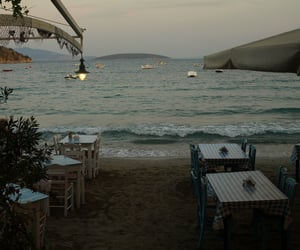 beach, evening, and Greece image