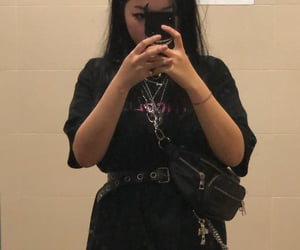 belt, black, and black hair image