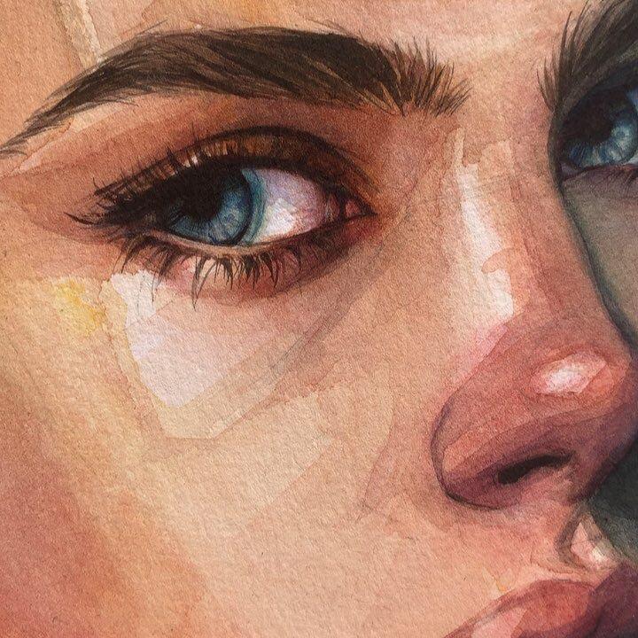 art, girl, and eyes image