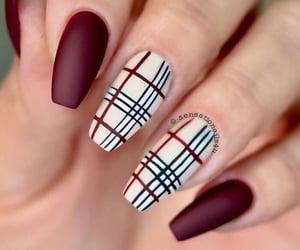 nails, fall, and nail art image
