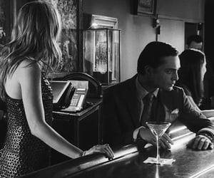 bar, black and white, and chuck bass image