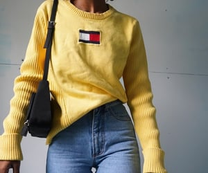 fashion, yellow, and clothes image