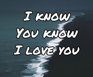 blue text, crush, and I Love You image