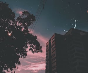 moon, aesthetic, and city image
