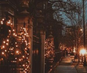 winter, light, and city image