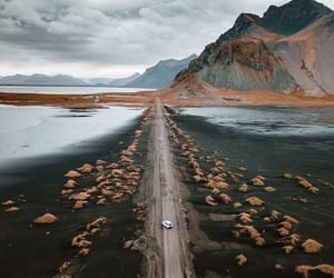 nature, road, and mountains image