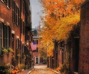 autumn, fall, and town image