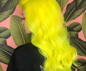 colored hair, hairstyles, and neon hair image